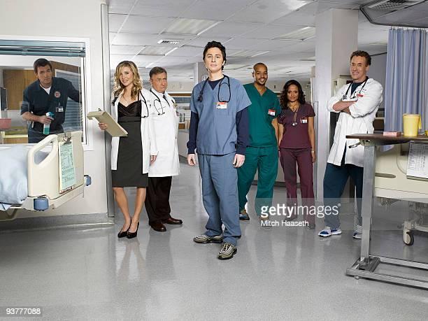 "Scrubs"" stars Neil Flynn as ""The Janitor,"" Sarah Chalke as ""Elliot Reid,"" Ken Jenkins as ""Dr. Bob Kelso,"" Zach Braff as ""John 'J.D.' Dorian,"" Donald..."