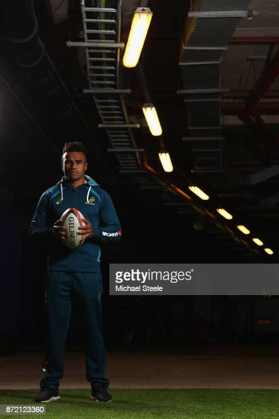 Scrum half Will Genia poses for a portrait following the Australia training session at Cardiff Arms Park on November 9 2017 in Cardiff Wales