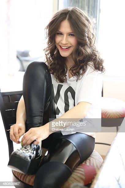 Sctress Erin Sanders is seen at stylist Jazmin Whitley's studio on March 26 2014 in Los Angeles California