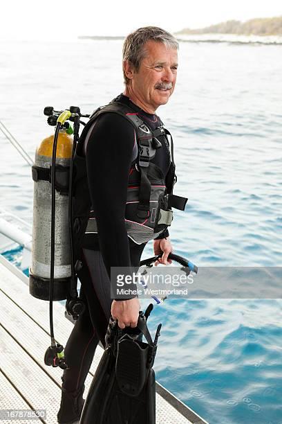 Scuba Diver, Big Island, Hawaii.
