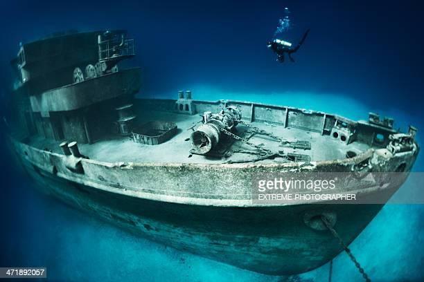 Scuba diver on site