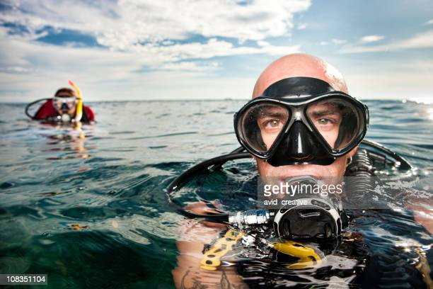 scuba diver - face guard sport stock pictures, royalty-free photos & images