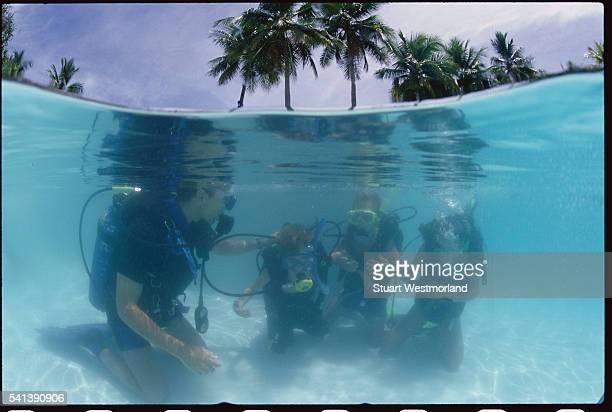 Scuba Divers at Palau Pacific Resort