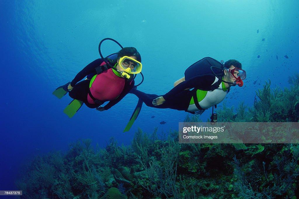 Scuba divers : Stockfoto