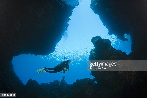 Scuba Diving in Custom Caves Russell Islands Solomon Islands
