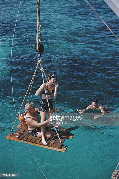 Scuba diving in the Bahamas 1959