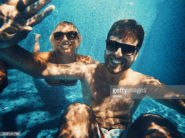 Scuba diving selfie.