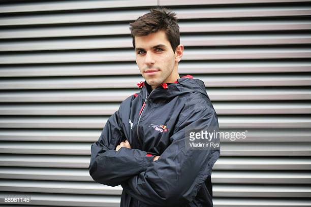 Scuderia Toro Rosso test driver Jamie Alguersuari of Spain is seen following qualifying for the German Formula One Grand Prix at Nurburgring on July...