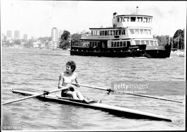Sculler Adair Ferguson in action at Mosman Rowing Club today. Adair won a gold medal at the world rowing championships.World champion sculler Adair...
