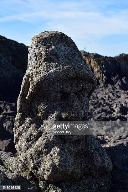 sculpted rock at saint Malo Rotheneuf