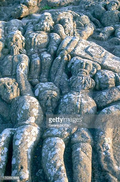 Sculpted rocks of Rotheneuf in Cote d'Emeraude Brittany France