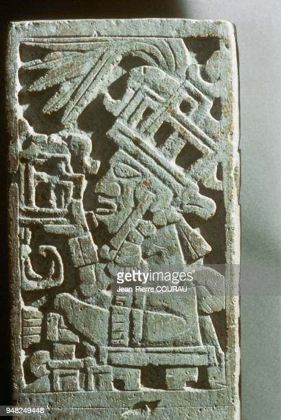 Sculpted stone of XOCHICALCO with a heigth of 40cm and preserved at the National Museum of Anthropology in Mexico City The city of Xochicalco was...