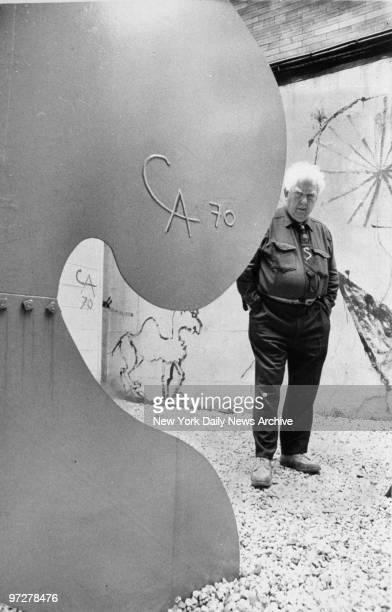 Sculptor Alexander Calder