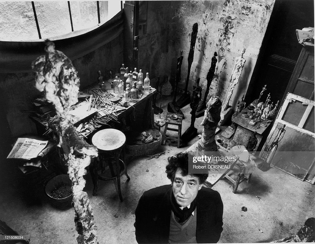 Alberto Giacometti, 1957 : Nachrichtenfoto