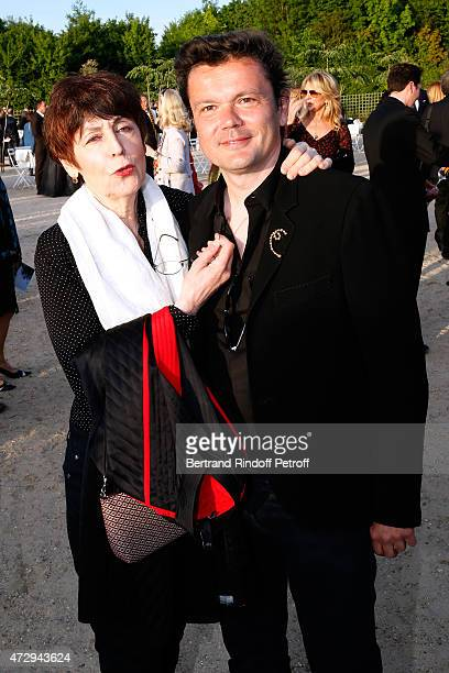 Sculptor Anette Messager and Contemporary Artist and Sculptor of fountains of the 'Bosquet du Theatre d'eau' JeanMichel Othoniel attend the...