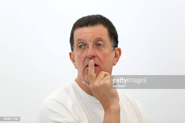 Sculptor Anthony Gormley at his studio following the announcement that he has been awarded the Sculpture Laureate in the Praemium Imperiale art prize...