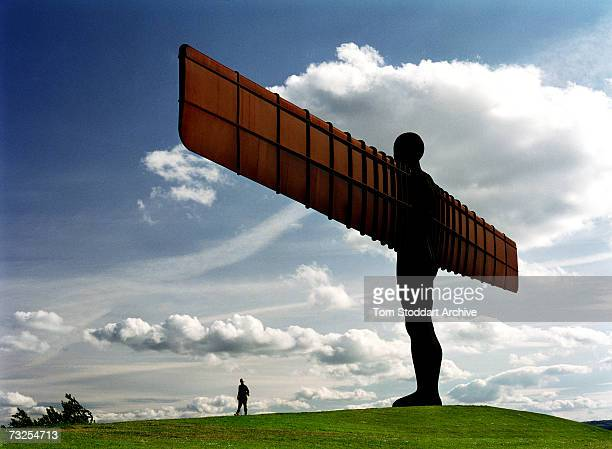 Sculptor Antony Gormley's 'Angel of the North' just outside Gateshead, September 2005. Standing 20 metres high and with a wingspan of 54 metres, the...