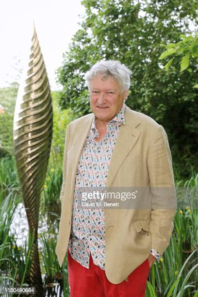 Sculptor David Harper attends 'The Savills and David Harber Garden' which celebrates the environmental benefit and beauty of trees plants and gardens...