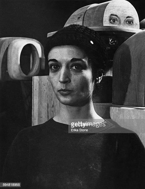 Sculptor Marisol Escobar, circa 1960.