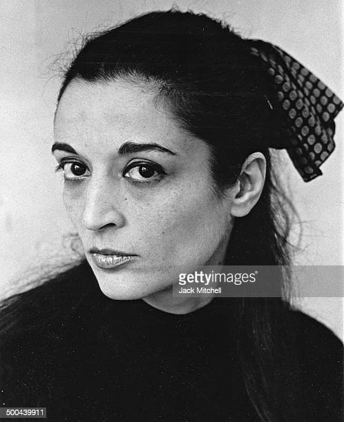 Sculptor Marisol photographed in New York City in 1967.