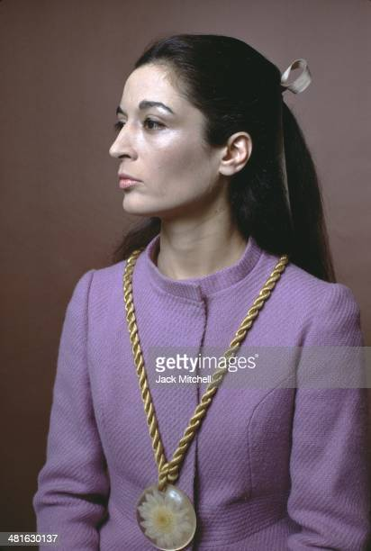 Sculptor Marisol photographed in New York City in 1968.