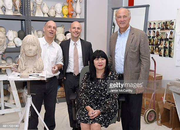 Sculptor Michael Evert Glenn Adamson director of The Museum of Arts and Design designer Anna Sui and Ralph Pucci attend Ralph Pucci The Art Of The...