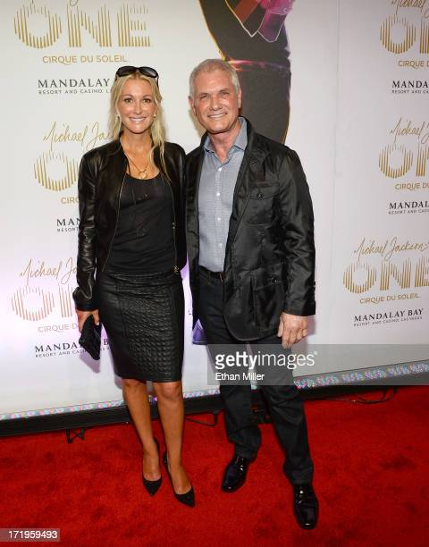 Sculptor Richard MacDonald and his wife Julia arrive at the world premiere of Michael Jackson ONE by Cirque du Soleil at THEhotel at Mandalay Bay on...