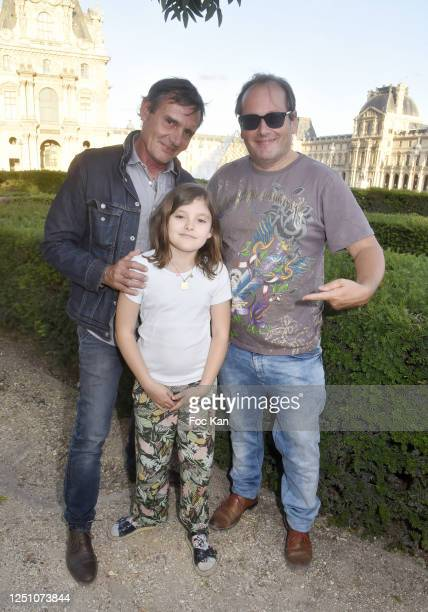 Sculptor Thierry Reiss Oceane and Artist Frederic Clopet de Grovestins attend Valentin Cavaillé de Nogaret Birthday Party at Jardin du Carrousel on...