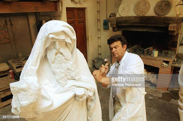 Sculptor Working at Museo dell'Opera del Duomo in Florence