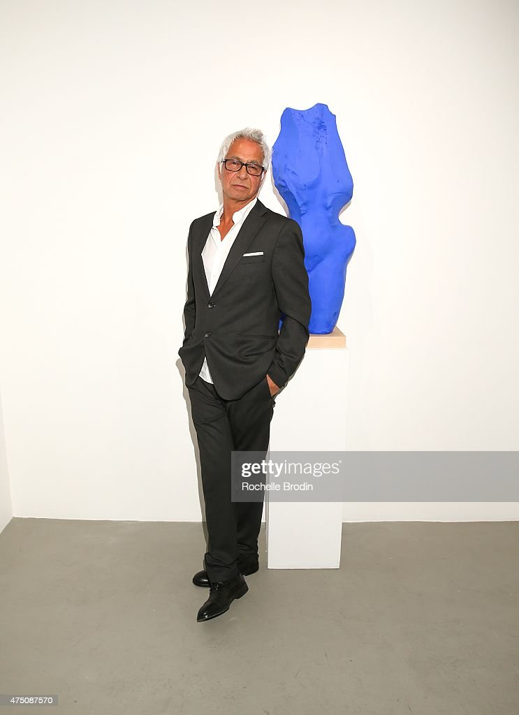 Sculptor/artist Yossi Govrin attends 'Blue Nudes' at De Re Gallery on May 28, 2015 in West Hollywood, California.