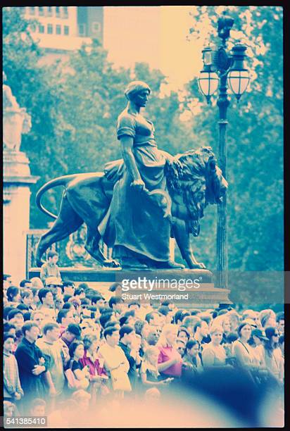 sculpture at base of queen victoria memorial - queen victoria stock pictures, royalty-free photos & images