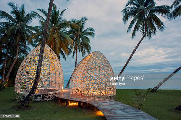 A sculpture at Dedon Island resort the 'outdoor lab' of Dedon furniture a line of highend outdoor furniture made from recycled plastic owned by Bobby...