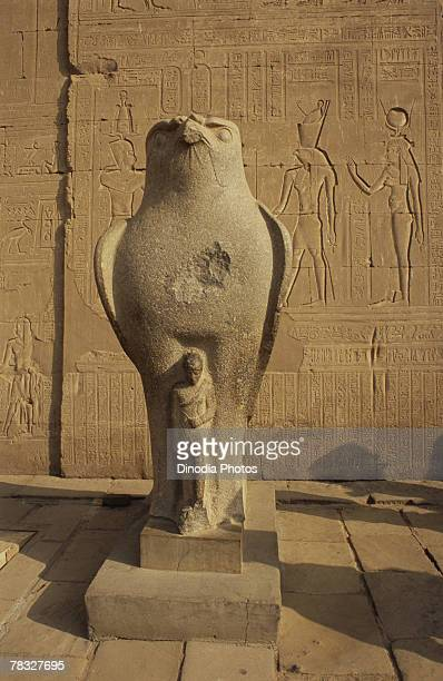Sculpture at Edfu Temple, Cairo, Egypt