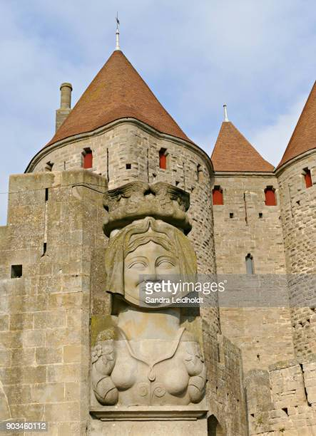 Sculpture at Entrance of Carcassonne - France