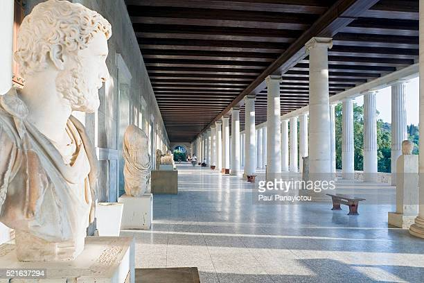 Sculpture at the Agora Museum at the Stoa of Attalos