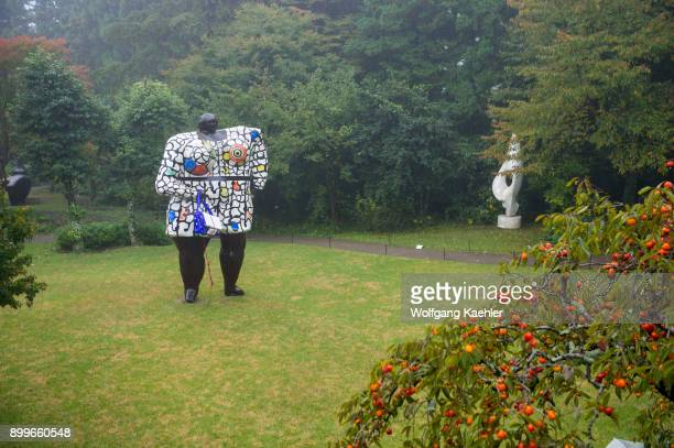 A sculpture at the Hakone OpenAir Museum which is Japans first openair museum opened in 1969 in Hakone in Ashigarashimo District Kanagawa Prefecture...