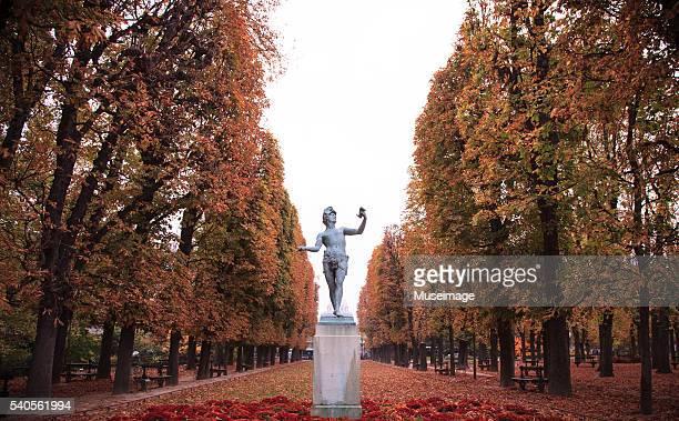Sculpture at the Luxembourg Garden, Autumn in Paris