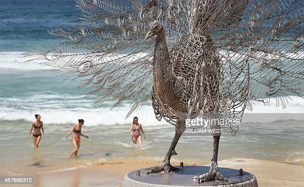 A sculpture by artist ByeongDoo Moon of South Korea titled Our memory in your place overlooks Sydney's Tamarama Beach as artists from 16 countries...