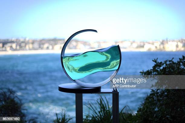 A sculpture by artist Tsukasa Nakahara is seen as part of the 'Sculpture by the Sea' exhibition near Bondi beach in Sydney on October 18 2017 The...
