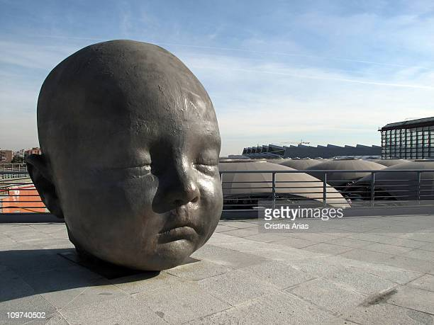 Sculpture called 'Noche' work of the Spanish painter and sculptor Antonio Lopez located in the square outside the South Terminal arrivals of...