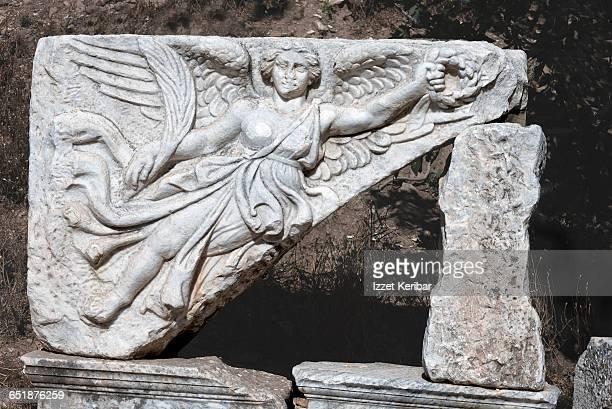 Sculpture depicting winged Nike, Ephesus, Izmir