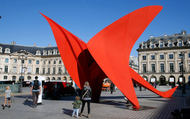 """FRA: Monumental Artwork """"Flying Dragon"""" By Artist Alexander Calder Is Displayed At Place Vendome As Part Of The FIAC 2021"""