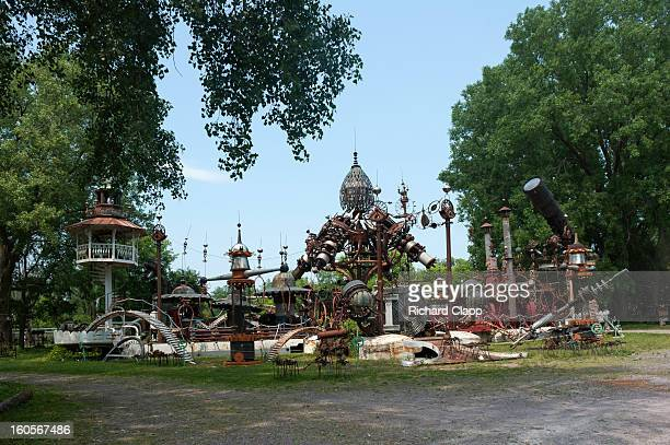 CONTENT] Sculpture from recycled materials at a site near Baraboo WI A science fiction look in this whimsical sculpture