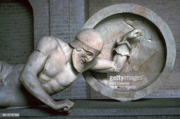 Sculpture of a fallen warrior from the temple of Aphaia at Aegina 6th century BC