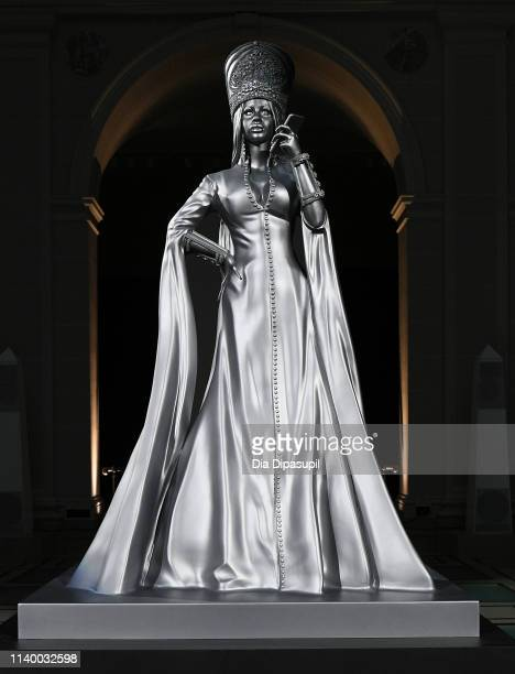 Sculpture of Cardi B at Spotify's RapCaviar Pantheon at Brooklyn Museum on April 02, 2019 in Brooklyn, New York.
