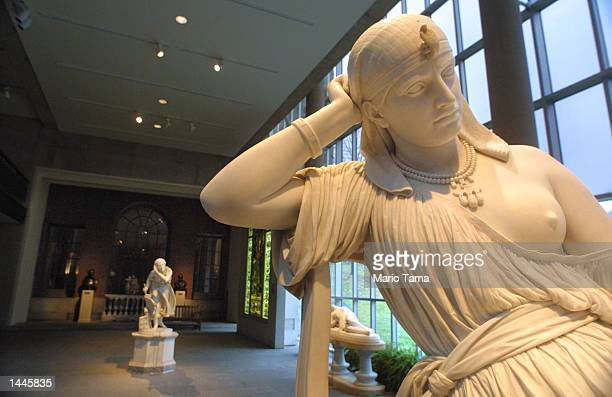 A sculpture of Cleopatra by William Wetmore Story is on display at the sparsely attended Metropolitan Museum of Art November 29 2001 in New York City...