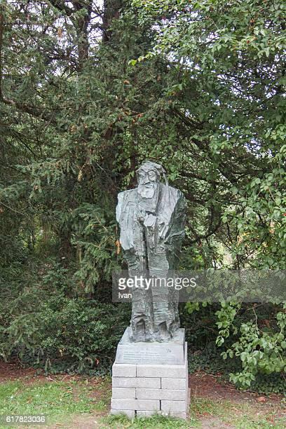 Sculpture  of Confucius in Clare College, Cambridge, UK