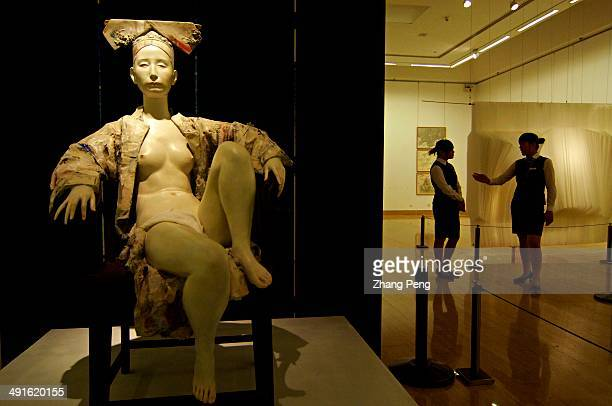 Sculpture of Empress Dowager Cixi shown at the third Beijing International Art Biennale in the National Art Museum of China The third biennale was...