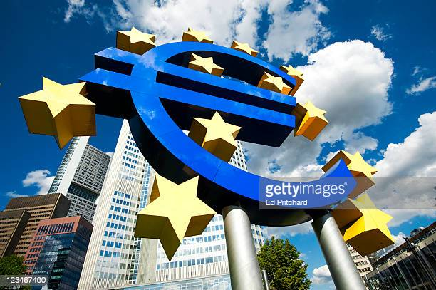 Sculpture of Euro symbol