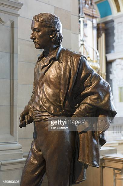 Sculpture of famous Scot the writer and poet Robert Louis Stevenson on display at Kelvingrove Art Gallery and Museum in Glasgow Scotland
